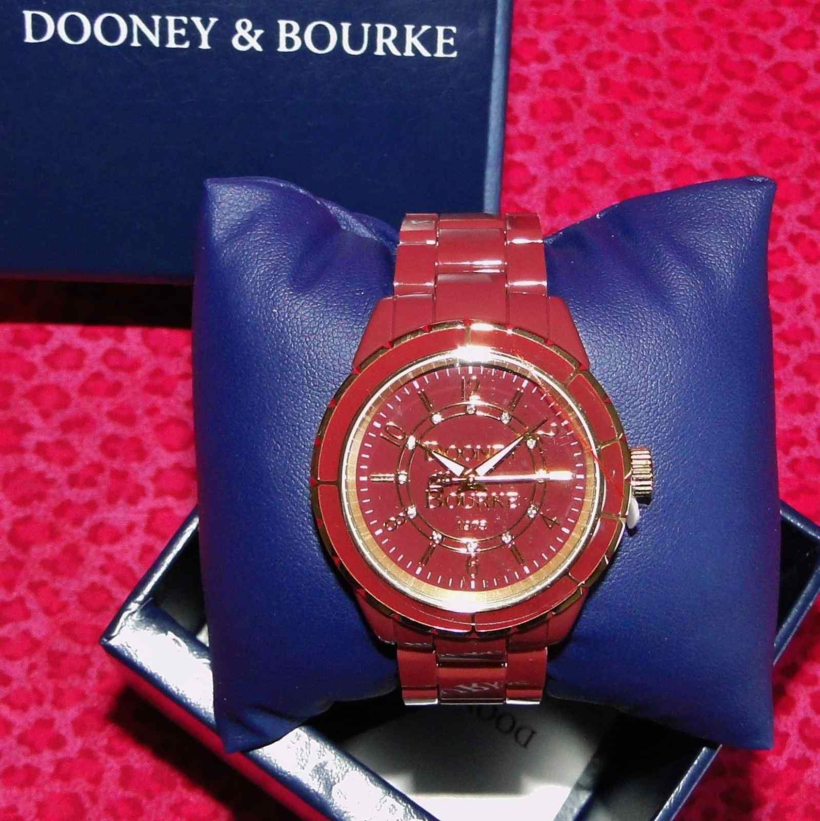 Dooney & Bourke Cranberry Roxbury II Resin Watch New In Box