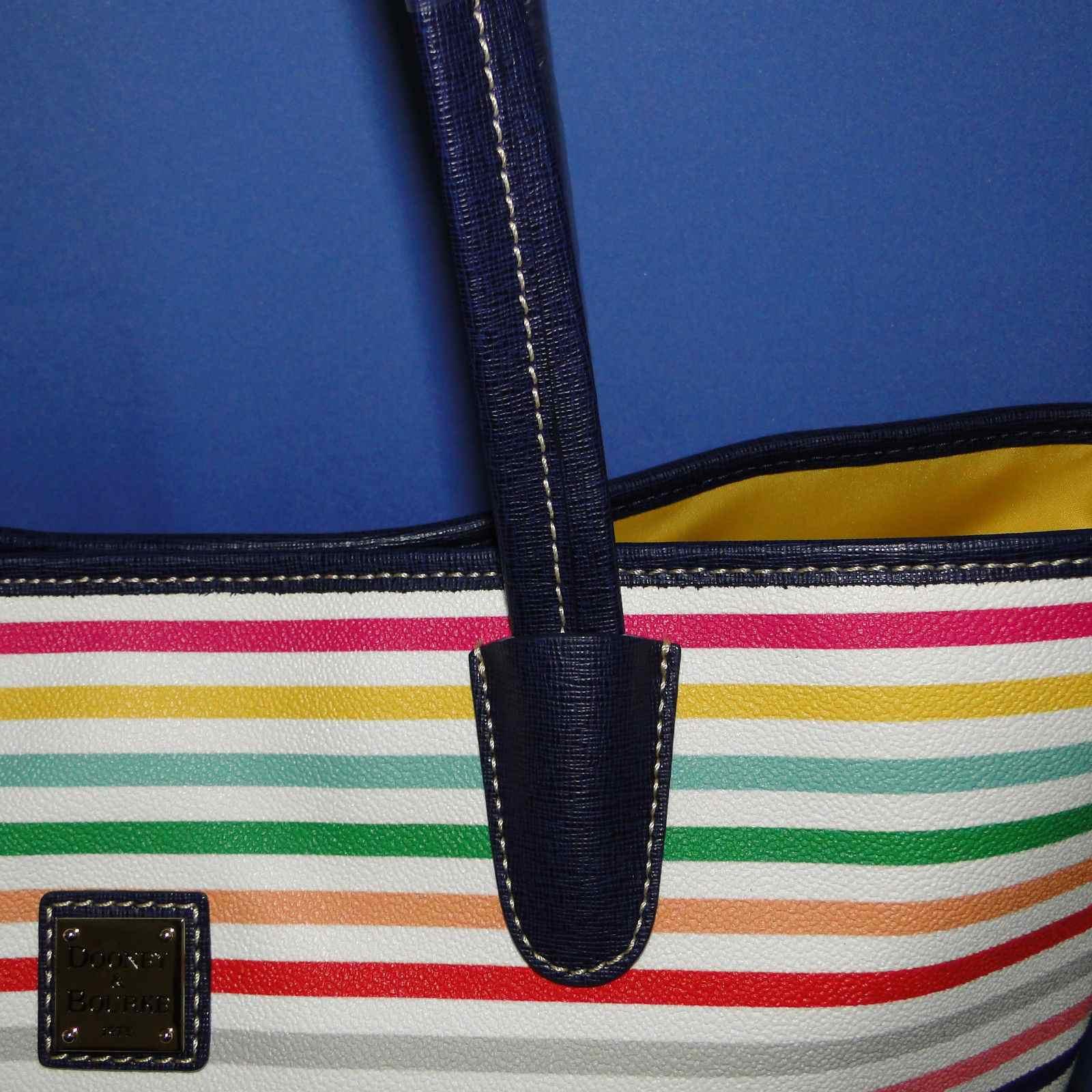 Dooney & Bourke Striped Lois Tote LG/ XL Multi Striped NWT OM729MU
