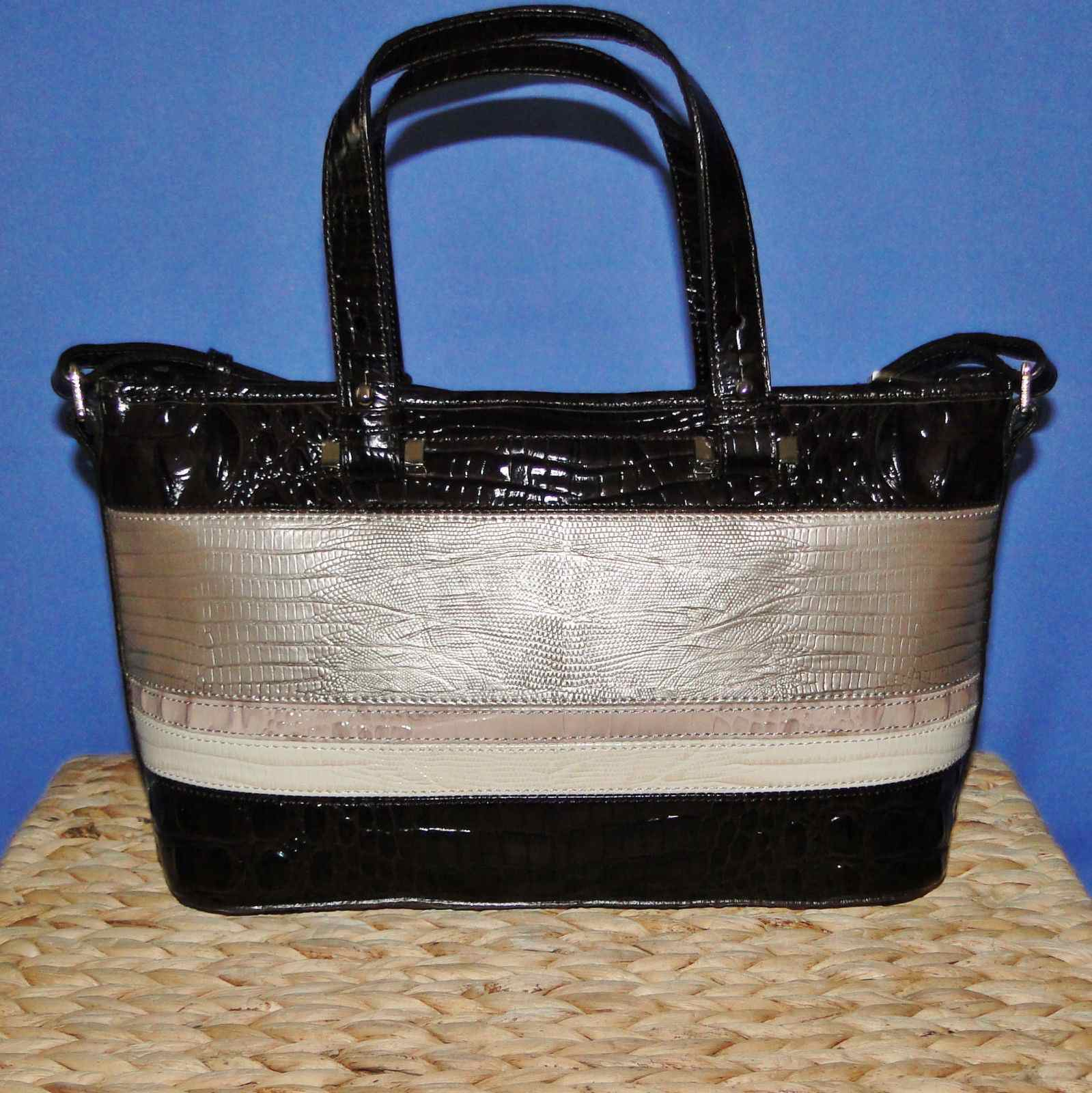 Brahmin Mini Asher Sterling Kapoor Leather Satchel N70982