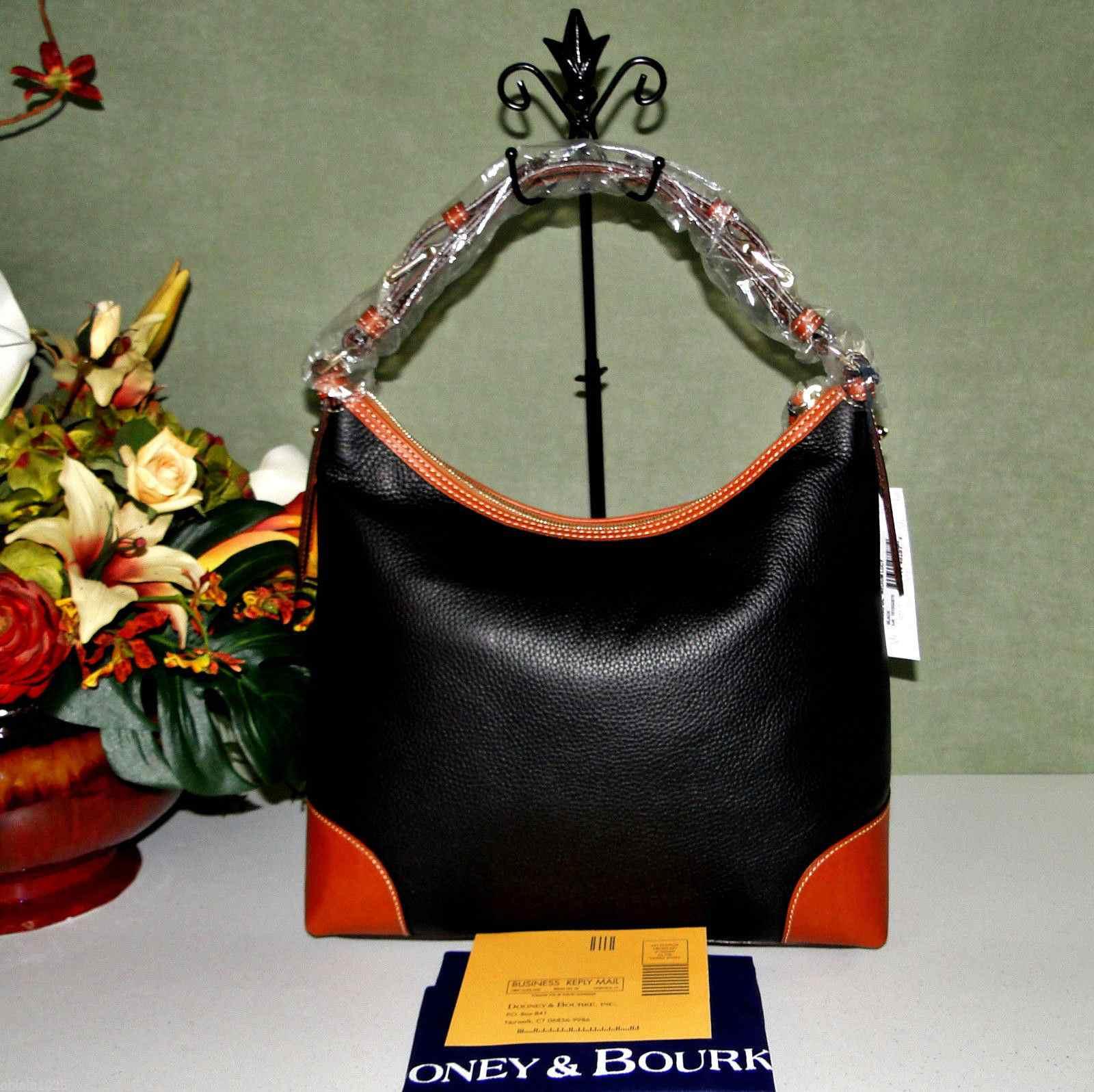 Dooney & Bourke Lucy Med Black Leather Hobo Shoulder Bag LAST ONE