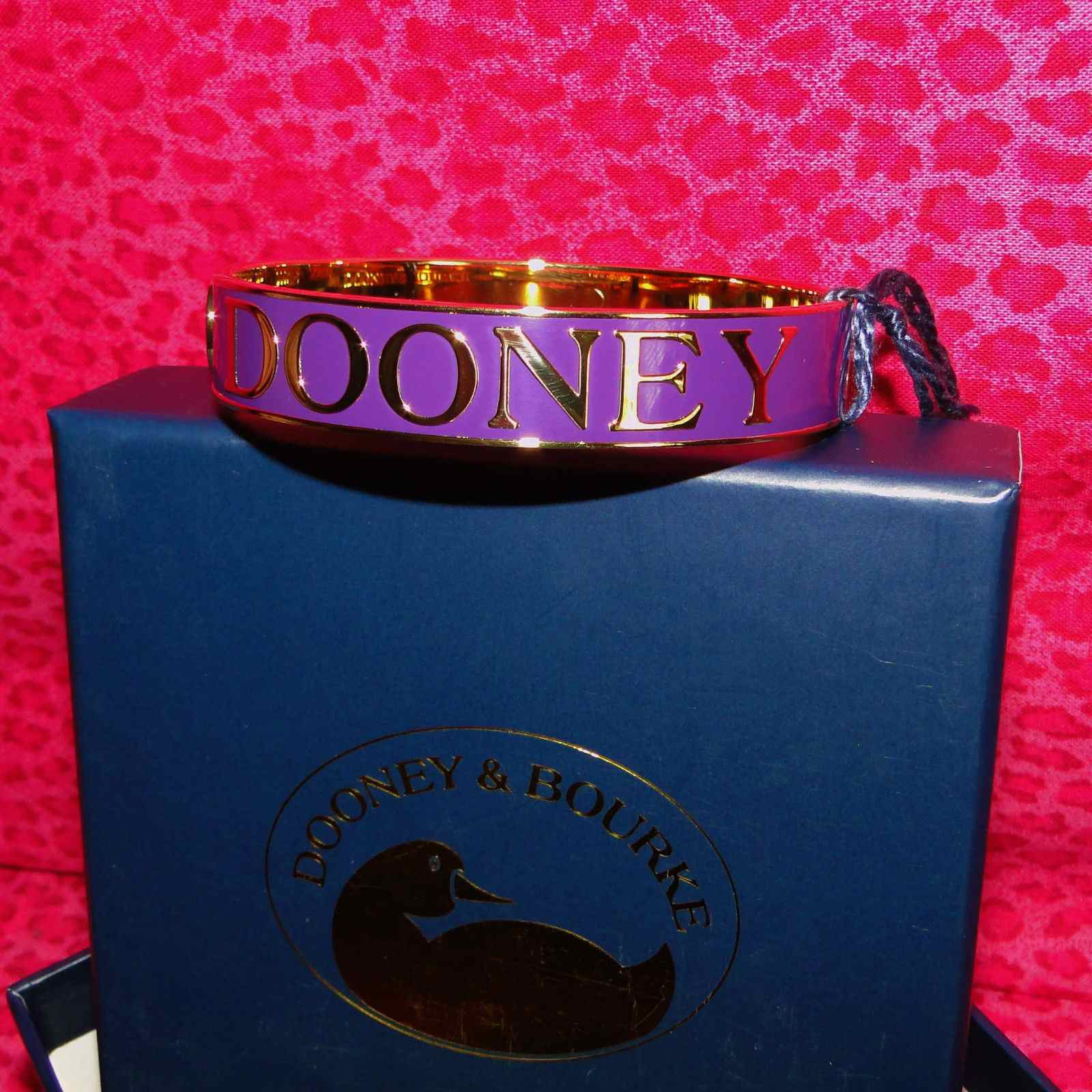 Dooney & Bourke Bangle Bracelet Purple Inlay New & Gift Boxed