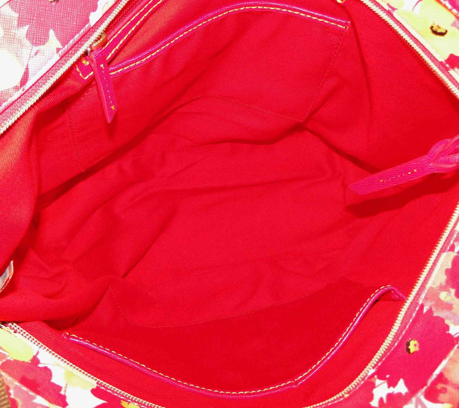 Dooney & Bourke Somerset Shopper & Med Wristlet Hot Pink Set