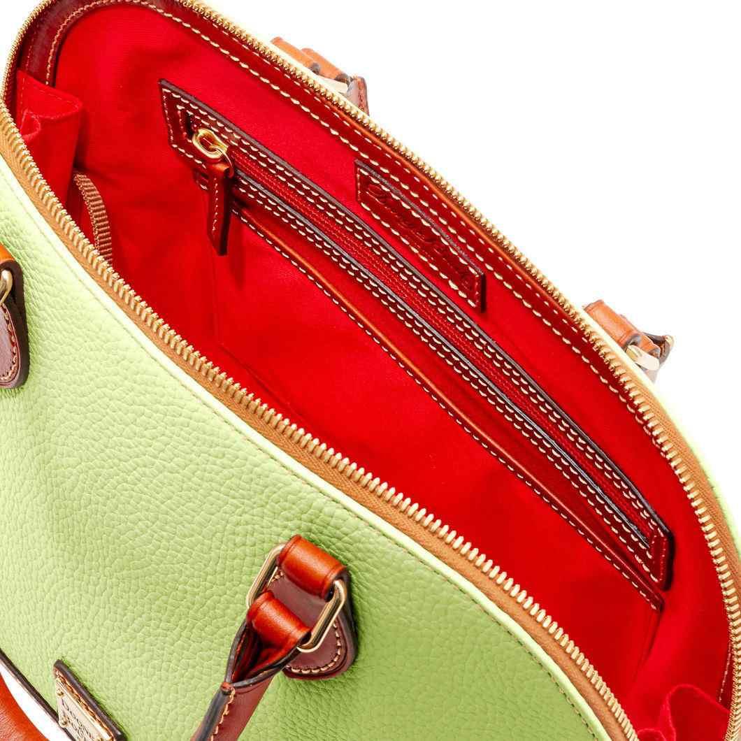 Dooney & Bourke Zip Zip Satchel & Wallet Set **KEY LIME**