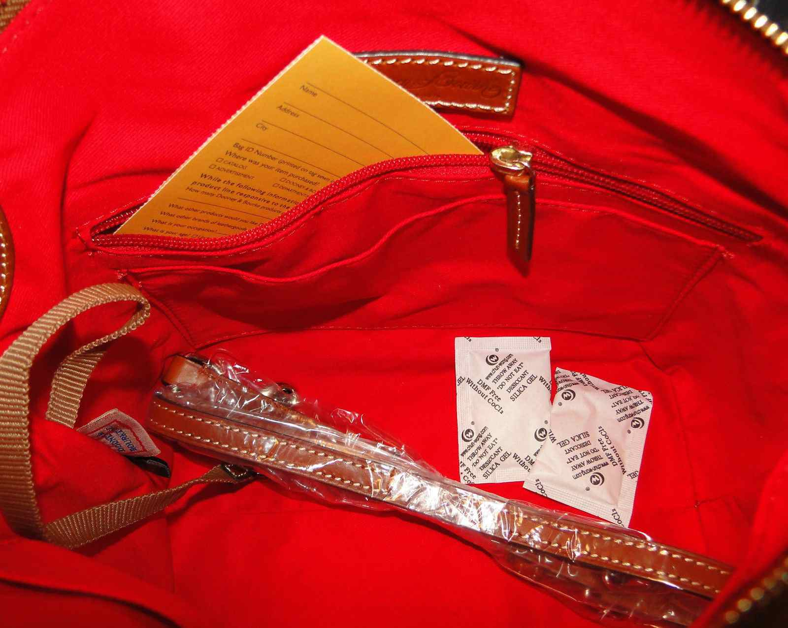 Dooney & Bourke Samba Leather Lock Satchel Shoulder Bag NWT