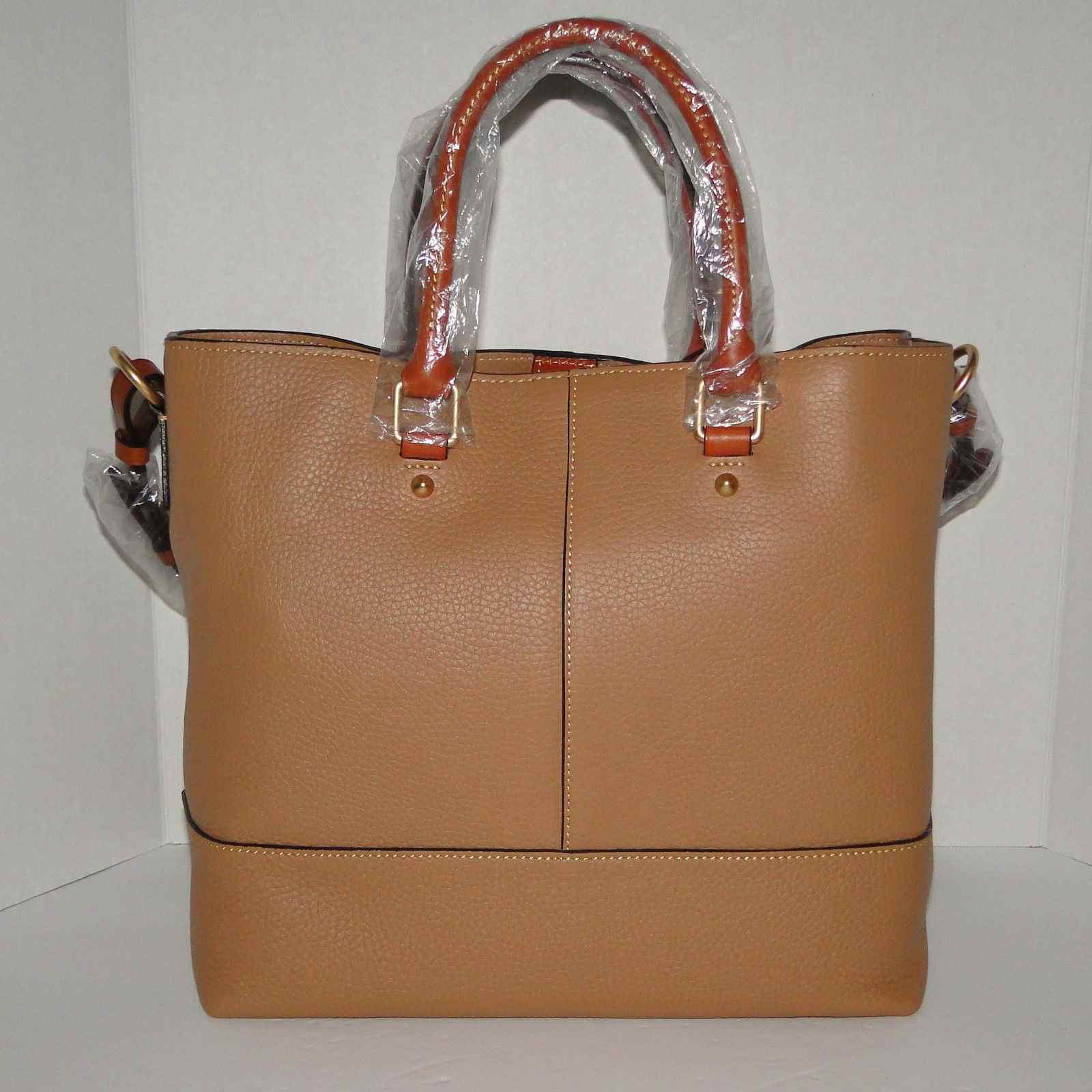Dooney & Bourke Dillen Chelsea Leather Shopper Sand Color