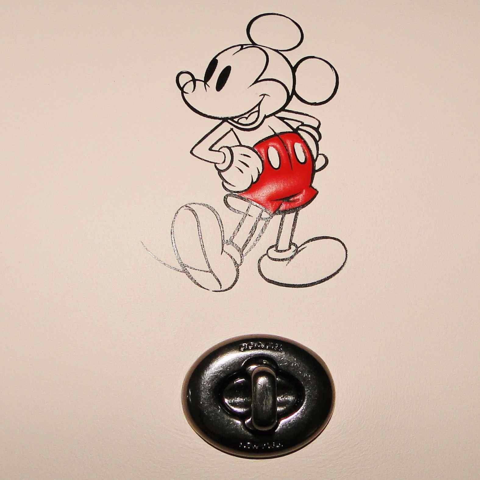 Coach Disney Mickey Mouse Penny Purse Crossbody Bag Chalk