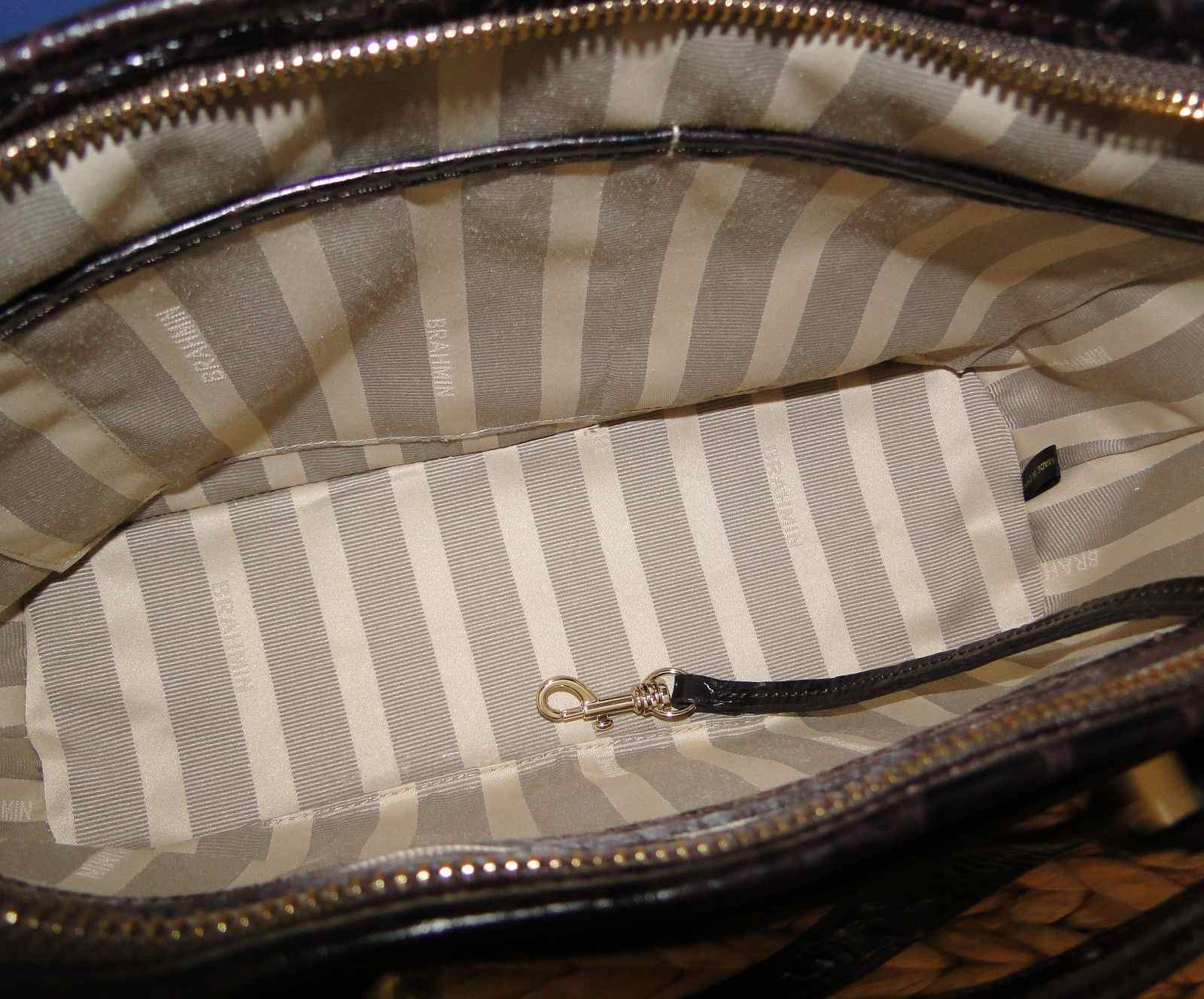 Brahmin Mini Asher Sterling Kapoor Leather Satchel N70982